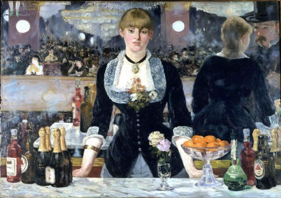 Manet, Edouard: Bar at the Folies-Bergère. Fine Art Print/Poster. Sizes: A4/A3/A2/A1 (00512)